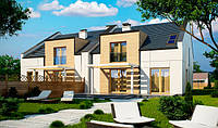 S13. Проект двухэтажных домов для симметричной застройки