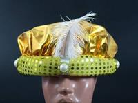 Праздничная шапка Паж золотистая