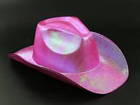 Шляпа Ковбой на праздник малиновая