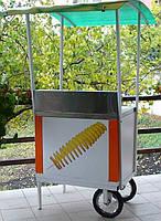 Торговый прилавок с оборудованием для спиральных чипсов
