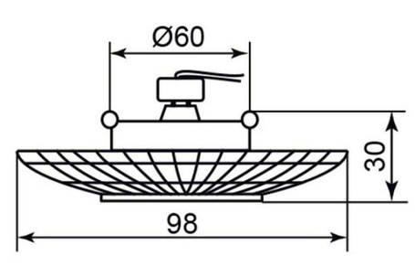 Светодиодный декор. светильник Feron CD 877 MR16 с LED подсветкой чайный Код.58562, фото 2
