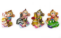 Фигурки-магниты Обезяна с подарками 16 шт. в наборе