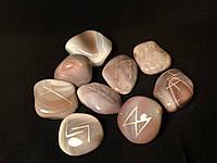 """Руны из камня, 25 символов (5XL) Агат """"Ботсвана"""". Premium Quality."""