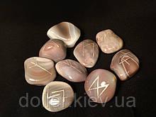 """Руни з каменю, 25 символів (5XL) Агат """"Ботсвана"""". Premium Quality."""