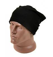 Черная мужская шапка на зиму