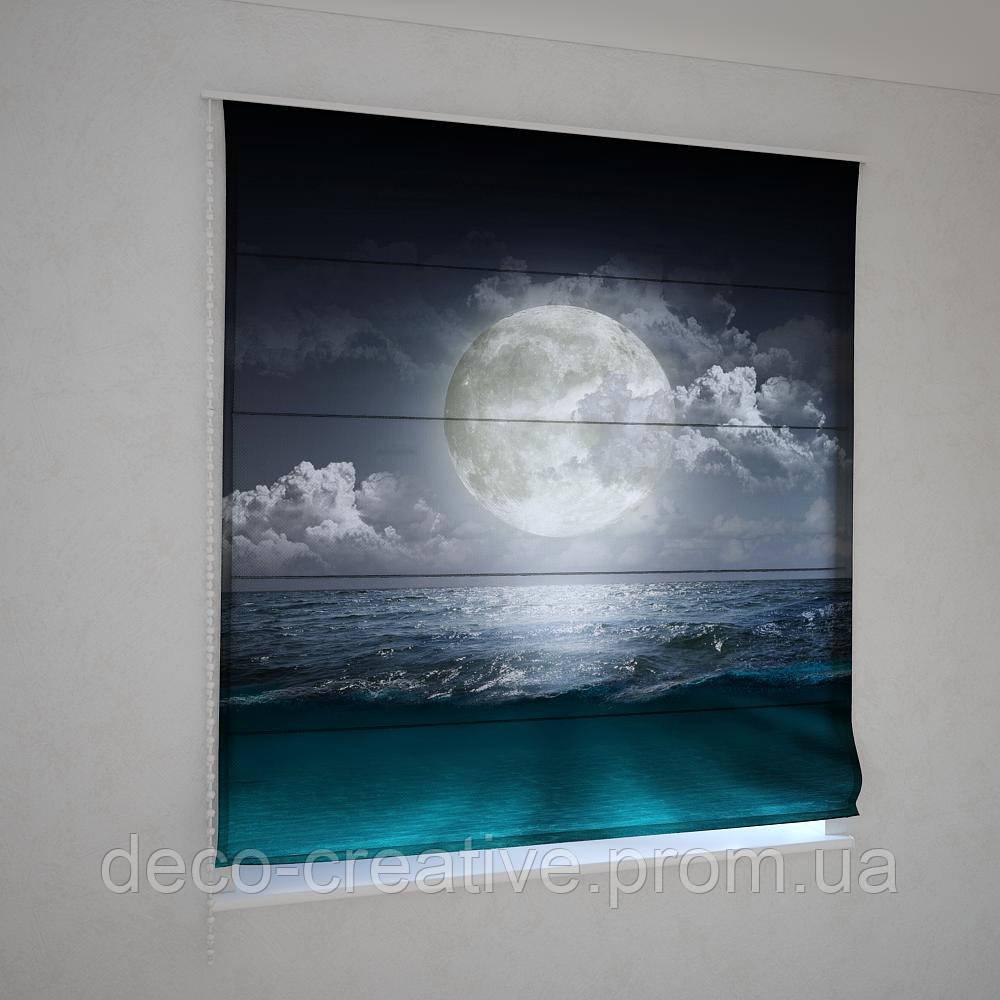 Римские фотошторы луна над океаном