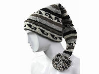 Зимняя шапка колпак Узор Ручная вязка
