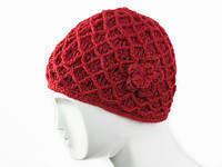 Женская шапка Сетка 2 слоя  Ручная вязка