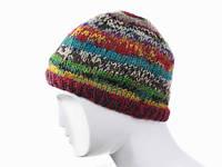 Вязанная шапка из шерсти Ручная вязка