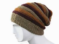 Мода 2016 вязанная шапка в полоску Ручная вязка