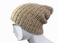 Вязанная шапка с помпоном Крупная вязка