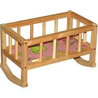 Кроватка для кукол деревянная ВП-002