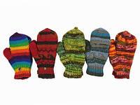 Теплые варежки-перчатки с пальцами Ручная вязка в ассортименте