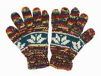 Шерсяные перчатки разноцветные в ассортименте