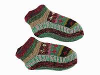 Вязанные шерстяные носки-тапочки Ручная вязка в ассортименте
