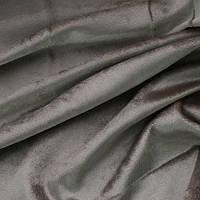Велюр для штор серый
