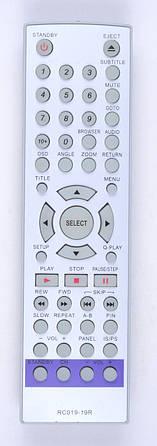 Пульт BBK RC019-19R (DVD)  НОК (CE)