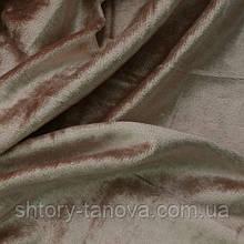 Велюр ткань для штор беж-розовый