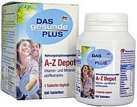 Витамины в таблетках DM Das Gesunde Plus A-Z Depot (100 штук)