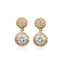 Сережки FASHION LOOK ювелірна біжутерія золото 18К декор кристали Swarovski