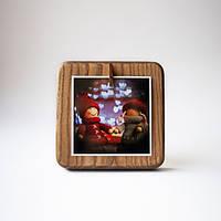 Деревянная фоторамка мини