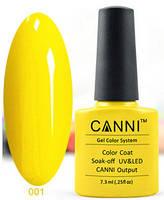 Гель лак Canni 001 (желтый)