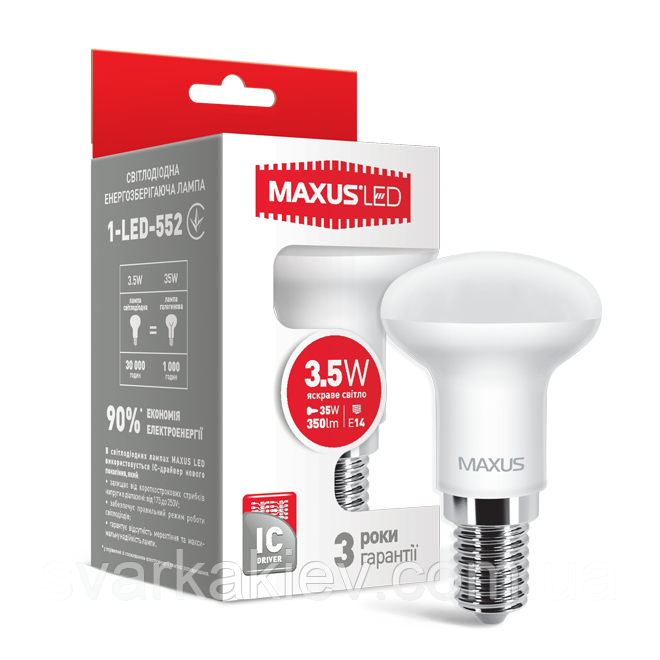 LED лампа R39 3.5W яркий свет 220V E14 (1-LED-552)