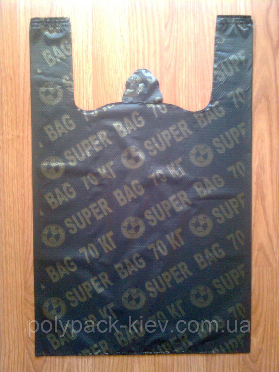 Пакеты-майка 38*60 см/ 35 мкм SUPER BAG аналог BMW от производителя, плотный пакет оптом