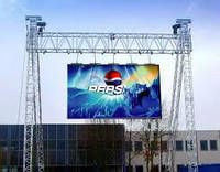 Рекламный экран P10, LED screen outdoor P10 full color