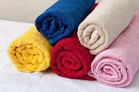 Розовое махровое полотенце Cholzer 50х100 плотность 420 Турция