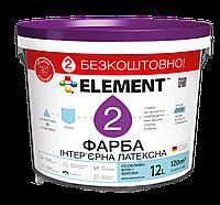 Интерьерная краска ELEMENT 2, белая, 12 л