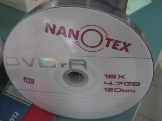 DVD - + R NANOTEX 16 х (10 шт )
