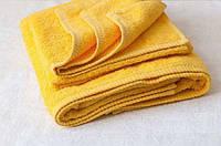 Полотенце желтое  Турция 50х90 плотность 450