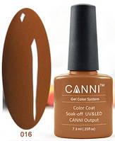 Гель лак Canni 016 (пастельный коричневый)