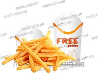 Упаковка под картофель фри с печатью логотипа