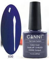 Гель лак Canni 030 (темный фиолетово-синий)