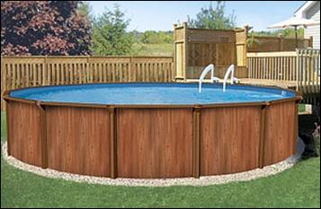 Конструкции бассейнов и чаши виниловые круглые