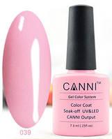 Гель лак Canni 039 (бледно-розовый)