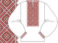 Заготовка мужской сорочки для вышивки бисером «Синевир 581Ч»