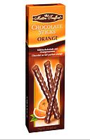 Шоколадные палочки с апельсиновой начинкой Maitre Truffout, 75 г.