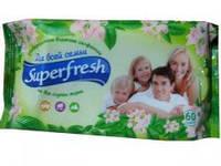 """Салфетки влажные детские """"без клапана"""" 60шт Superfresh"""