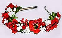 Обруч из цветов для девушки