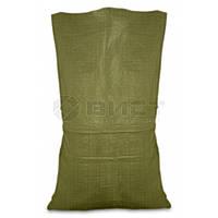 Мішок поліпропіленовий зелений 55х105см, 50 кг 10-918  // Мешок полипропиленовый, Украина