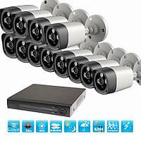 Комплект видеонаблюдения InterVision PREMIUM-16 960p (12 камер и регистратор )