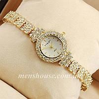 Бюджетные часы King girl diamond Gold/White