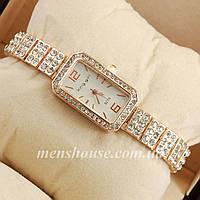 Бюджетные часы King girl diamond Pink gold/White