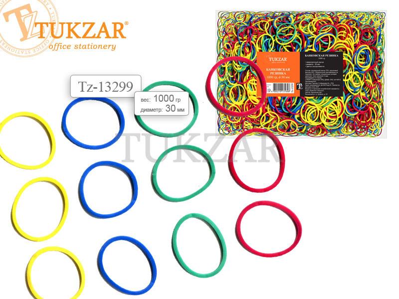 Резинки для банкнот, упаковка 1 кг., d=30 мм., цветные