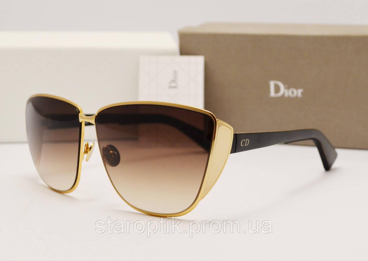 Женские солнцезащитные очки Dior Futurist LUX золото - Star Optik в Одессе 765175f8afb00