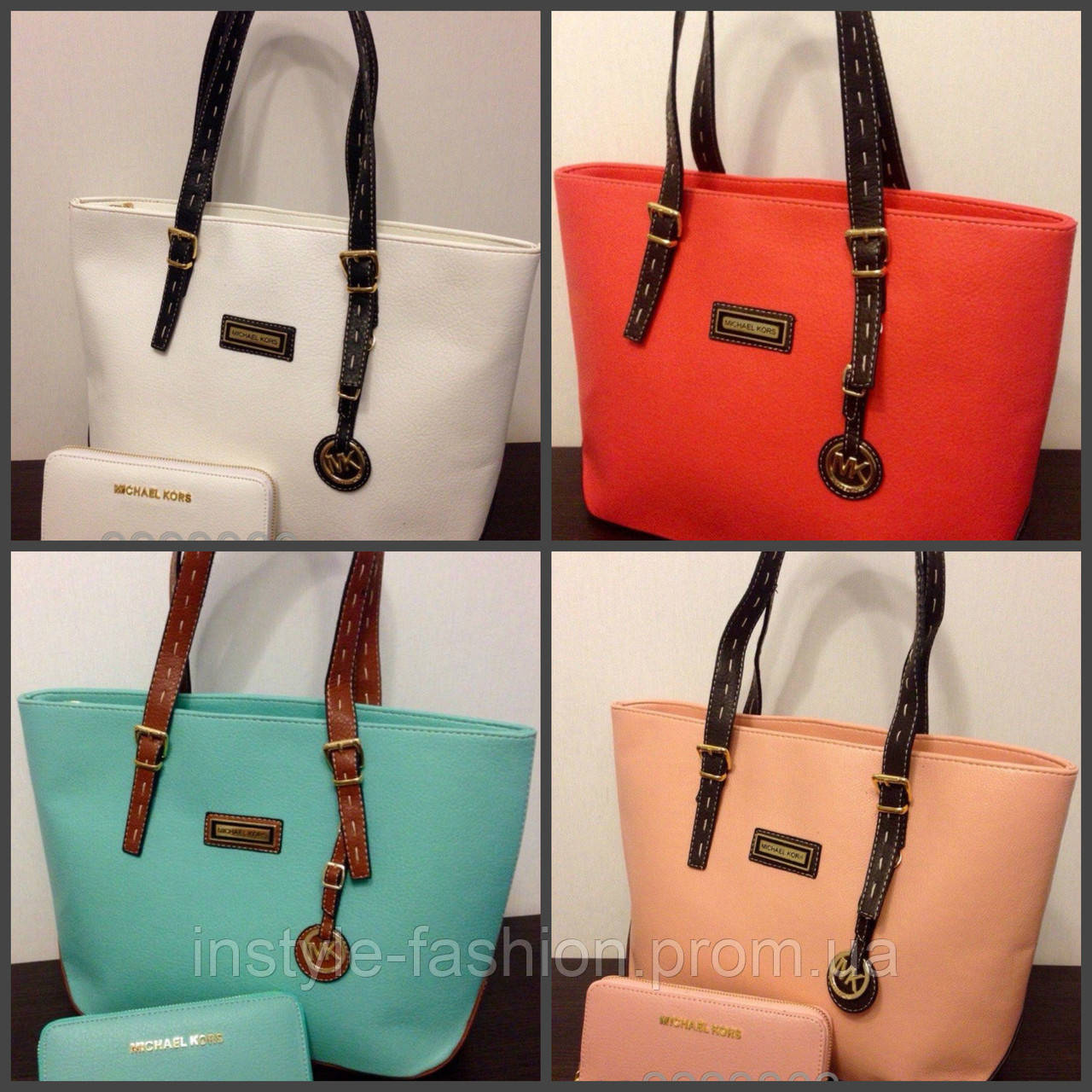 Яркие сумки майкл Корс: розовые, бежевые, бирюзовые, голубые