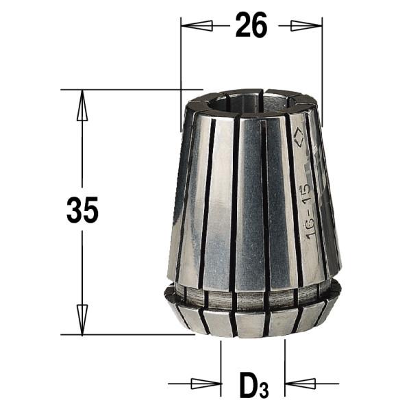 Цанга зажимная ER 25  (D = 12 мм)